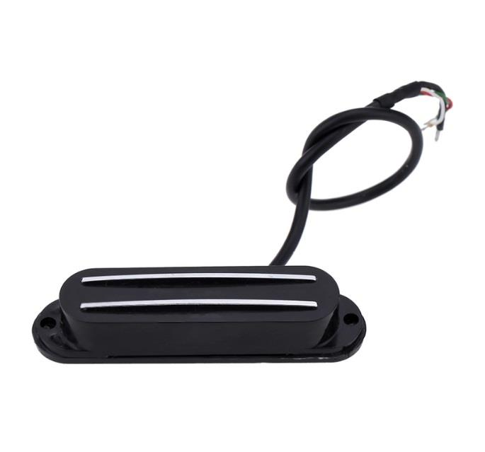 Dual Hot Rail Single Coil Humbucker Pickup 4 Wire for Electric Guitar.