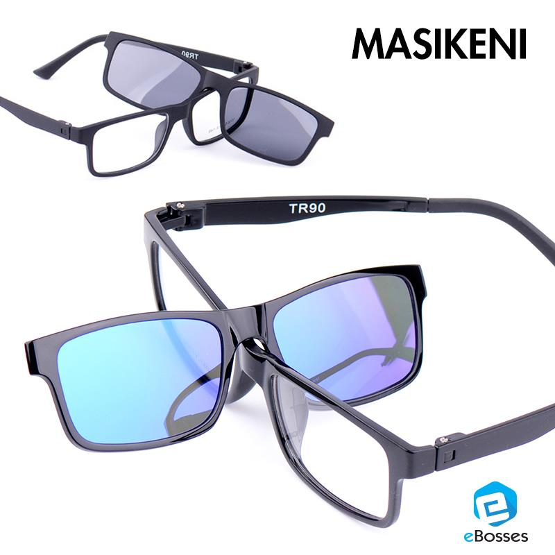 Dual Magnet Polarized Frame Men Sunglasses Clip