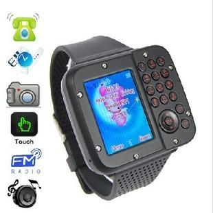 NEW!Dual SIM Watch Phone AK10 Quadband Dual SIM Watch Cell Phone