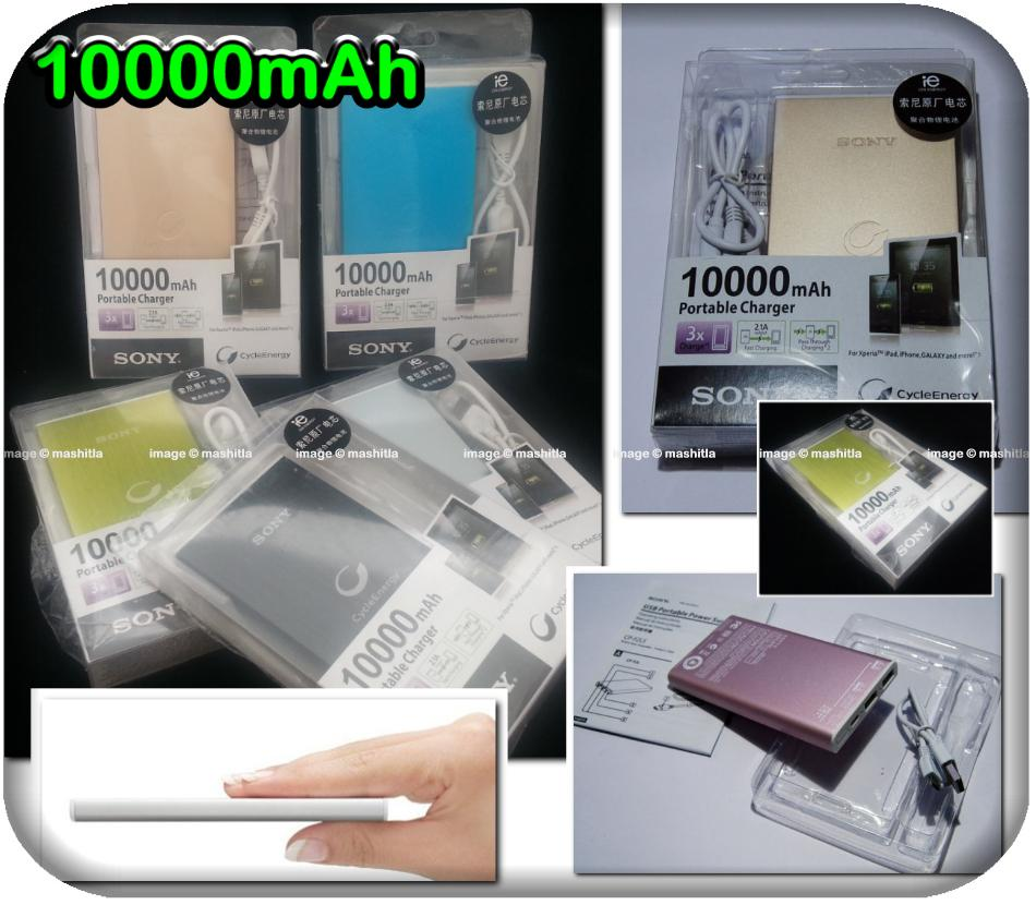 Harga Power Bank Sony 10000mah Dual Usb Power Bank Sony