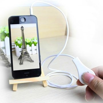 Ducame Plug Wired Shutter Release Control Cable for  iPhone 5s/5c/5/4s