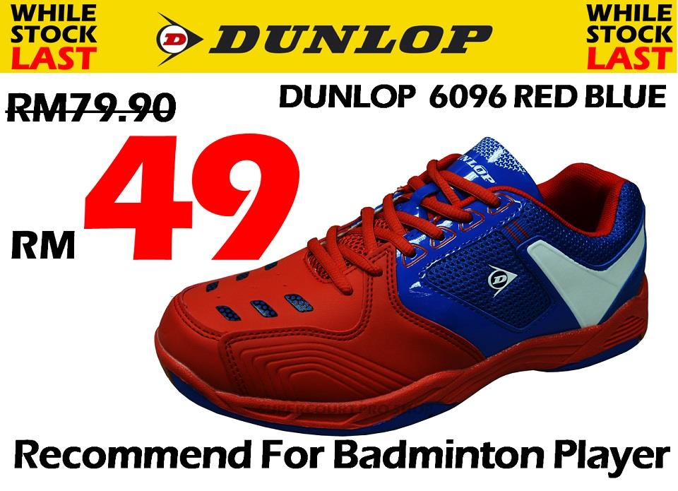 Dunlop DP 6096 Red Blue Badminton Shoe (Walk in RM49) @@