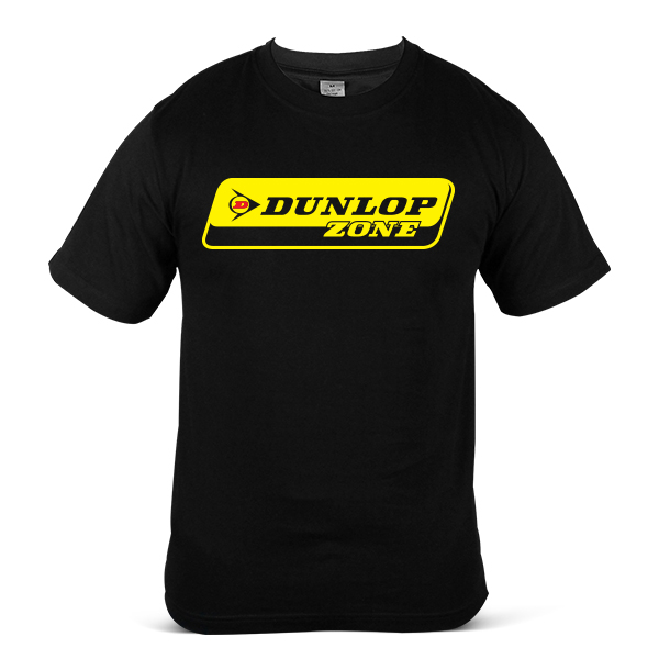 DUNLOP Zone Car Motorcycle Bike Racing Tyre Tire Unisex Casual T Shirt