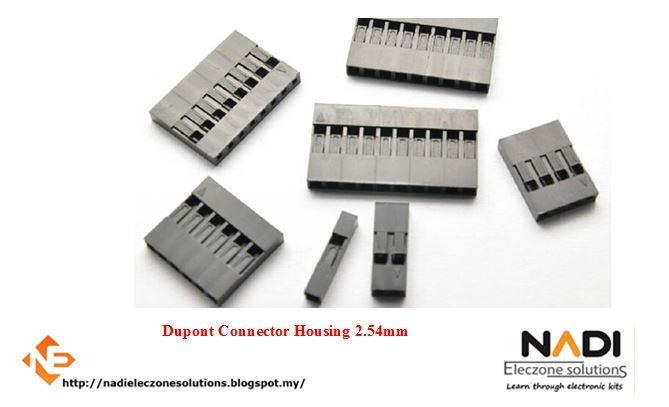 Dupont Connector Housing 2.54mm 1P, 3P, 8P