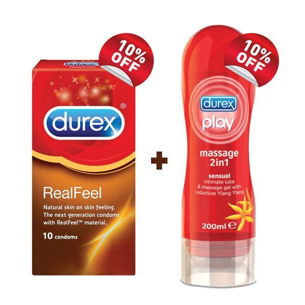 how to use durex massage lube
