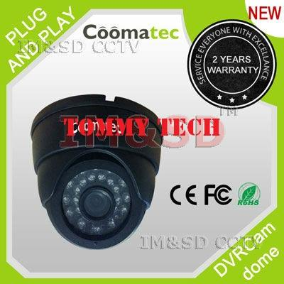 DVRCam most simple Stand-alone IR LED CCTV Security DVR Dome Camera su