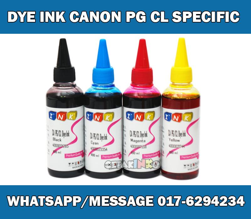 DYE INK CANON PG CL SPECIFIC INK REFILL CISS