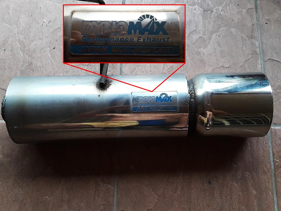 DynoMax Performance Stainless Steel Exhaust Muffler Pipe and Head