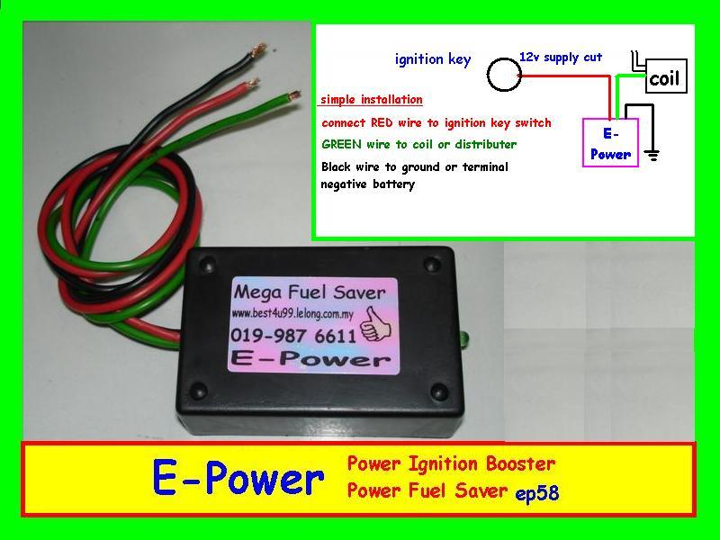 E-Power Booster Fuel Saver Jimat Minyak Petrol NGV HOT Sale item Murah $ RM58