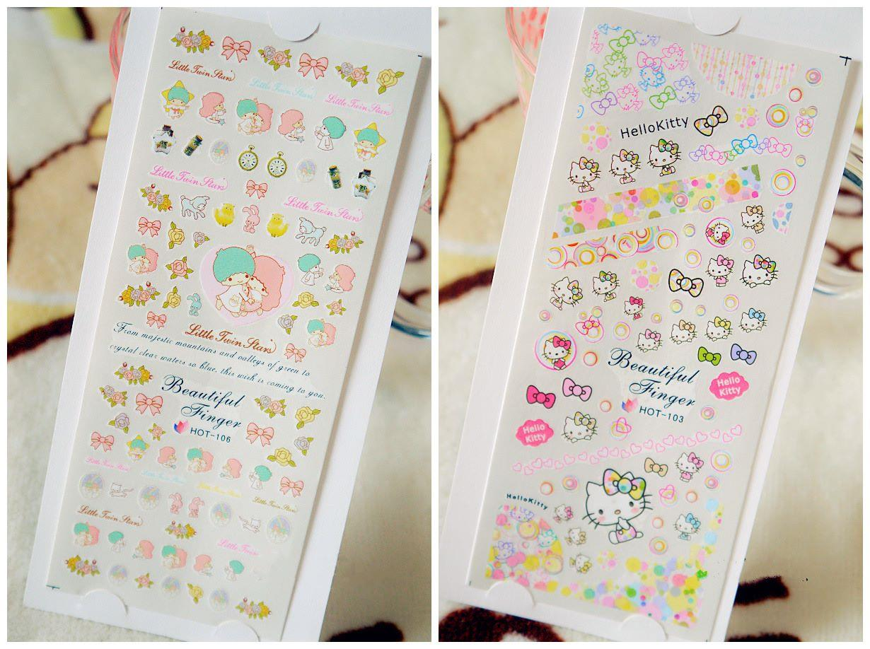 E0353 CARTOOON NAIL ART STICKER