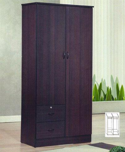 E114W Two Door Two Drawer Wardrobe