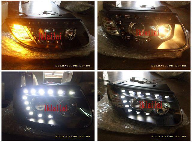 Eagle Eye HYUNDAI SANTA FE Projector Head Lamp [AUDI Q7 LOOK LED DRL]