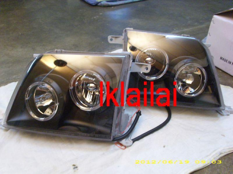 Eagle Eye Toyota Prado `97-02 FJ90 Head Lamp Black W/Rim+Corner