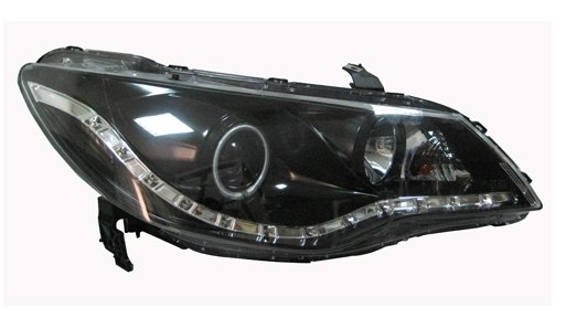 EAGLE EYES CIVIC '06-08 BLACK HOUSING CCFL Projector HeadLamp HL-073-2