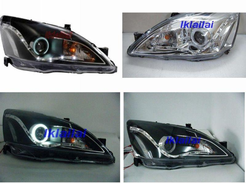 EAGLE EYES Honda Accord '03 CCFL Ring Projector Head Lamp LED DRL R8