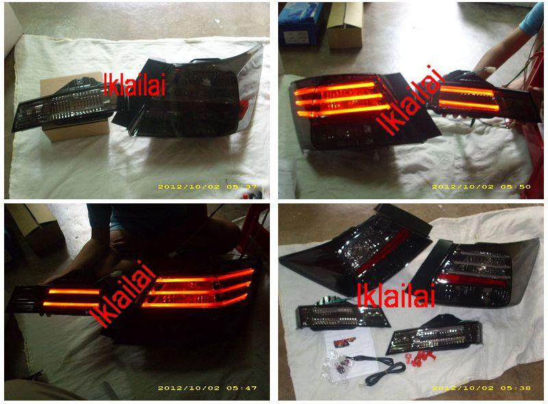 EAGLE EYES HONDA ACCORD '08 Tail Lamp +Bonnet Lamp GCi LIGHT BAR Smoke