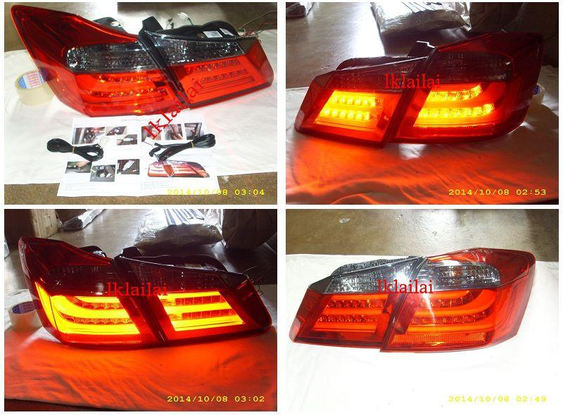EAGLE EYES HONDA ACCORD '14 LED Light Bar Tail Lamp Red-Smoke [TL-229]
