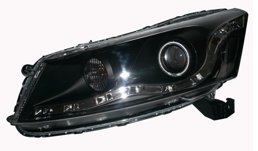 EAGLE EYES HONDA ACCORD 4D '08 BLACK CCFL Projector Head Lamp HL-100-1