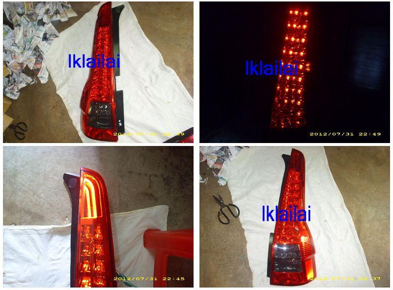 EAGLE EYES HONDA CRV '07-12 LED Tail Lamp Mugen RR Style [Red]