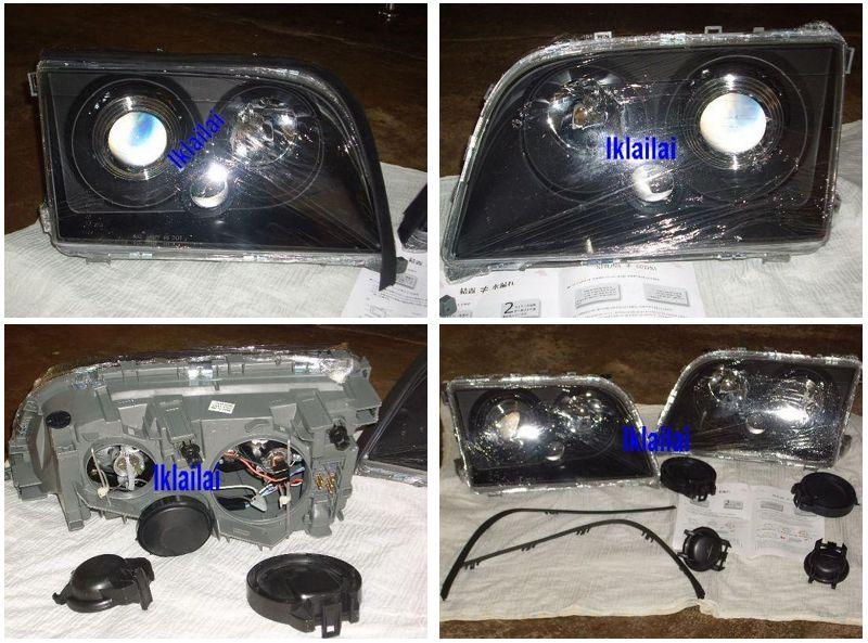 Eagle Eyes Mercedes Benz W140 '94-98 Projector Head Lamp Black Housing