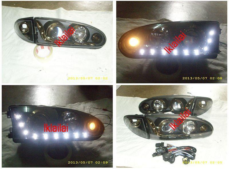 Eagle Eyes PROTON WIRA Projector Starline Head Lamp Titanium Trim
