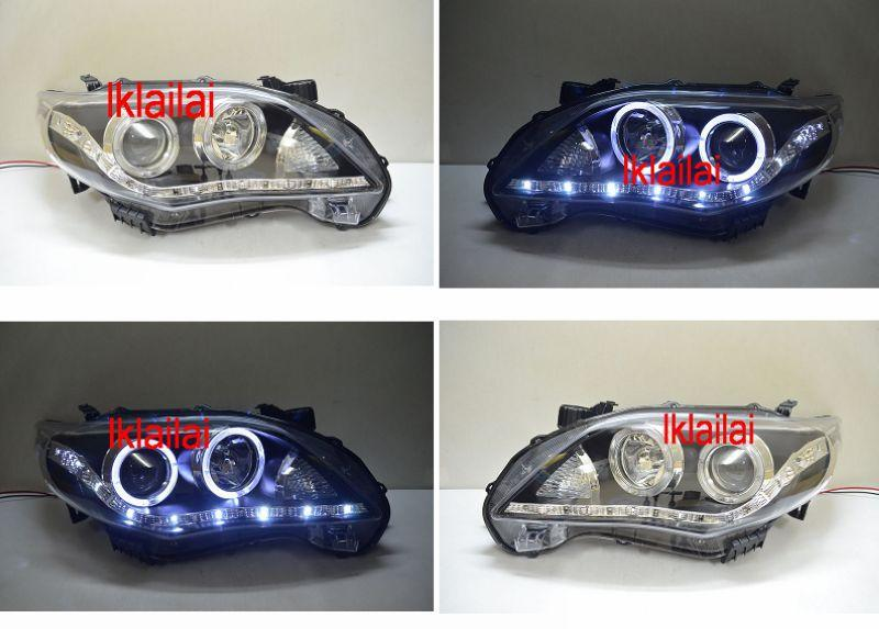 EAGLE EYES TOYOTA ALTIS '10-13 LED DRL R8 Projector Head Lamp