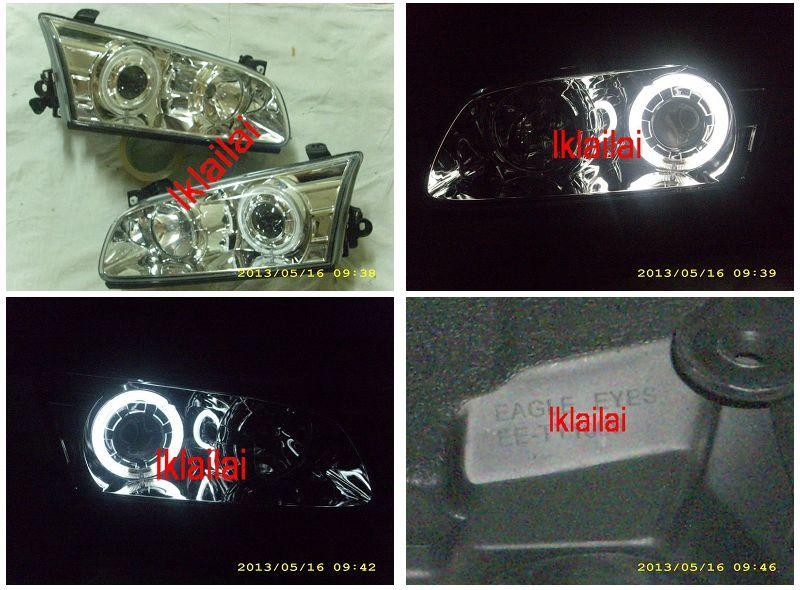 EAGLE EYES Toyota Camry '00-01 CCFL Projector Head Lamp Chrome Housing
