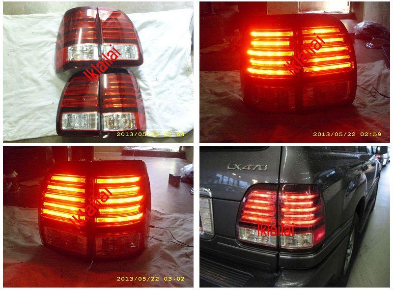 EAGLE EYES Toyota Landcruiser `98-07 LX470 LED Tail Lamp Red/Clear