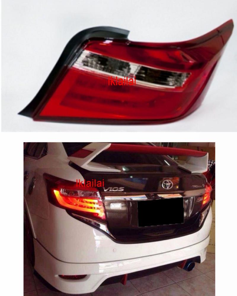 Eagle Eyes Toyota VIOS '13-14 LED Light Bar Tail Lamp [Red-Clear]