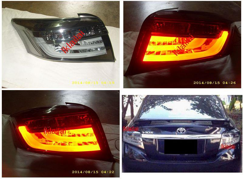 Eagle Eyes Toyota VIOS '13-14 LED Light Bar Tail Lamp [Smoke]