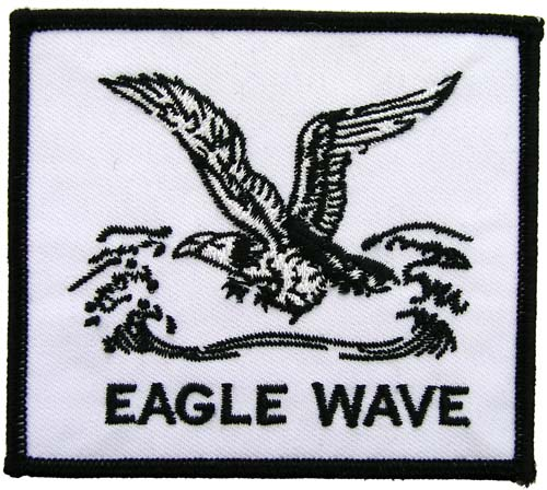 EAGLE WAVE FISHING SPORTS EMBROIDERED PATCH
