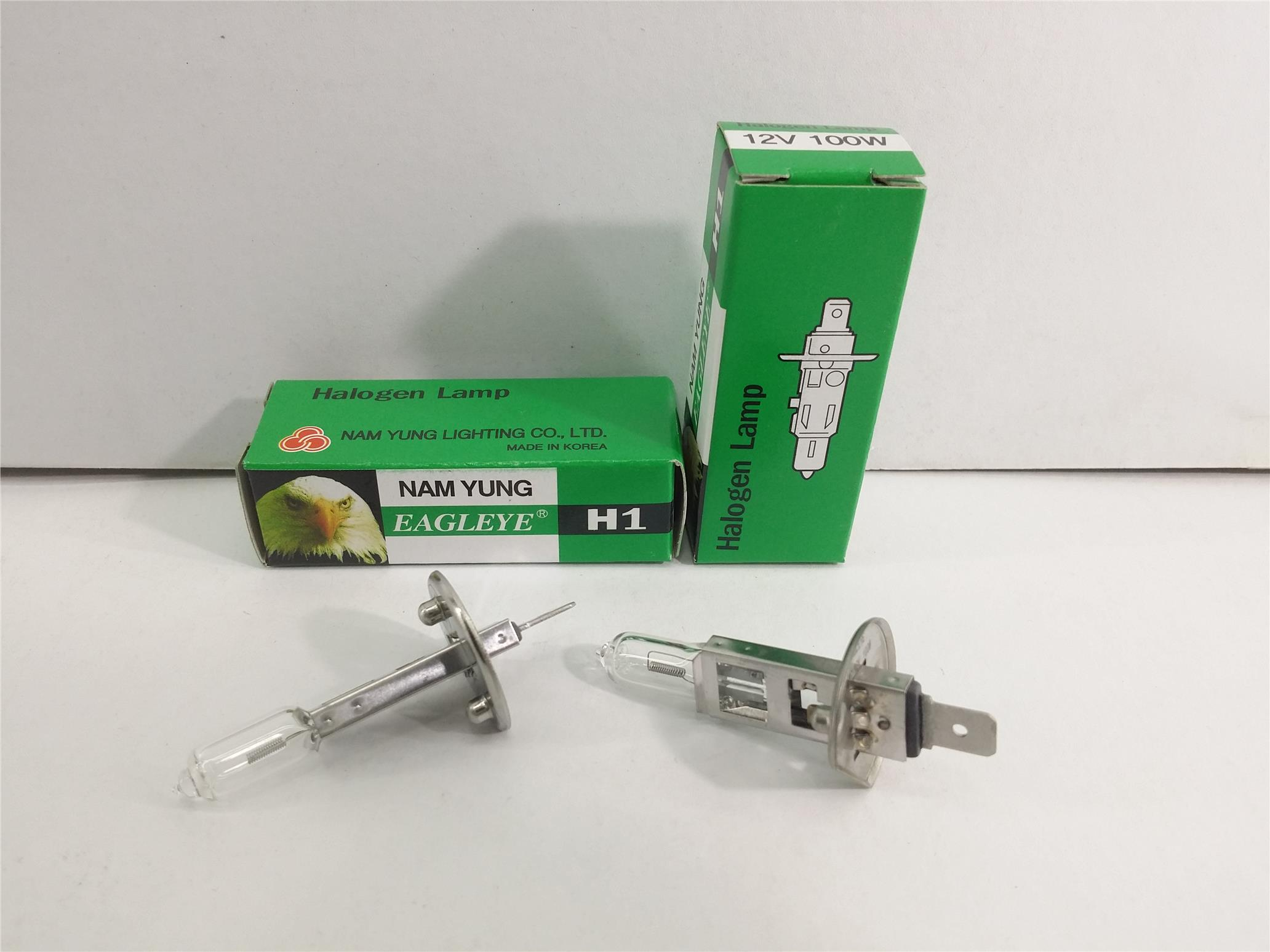 EAGLEYE H1 BULB SET 2 PIECES 12V 100W MADE IN KOREA NAM YUNG