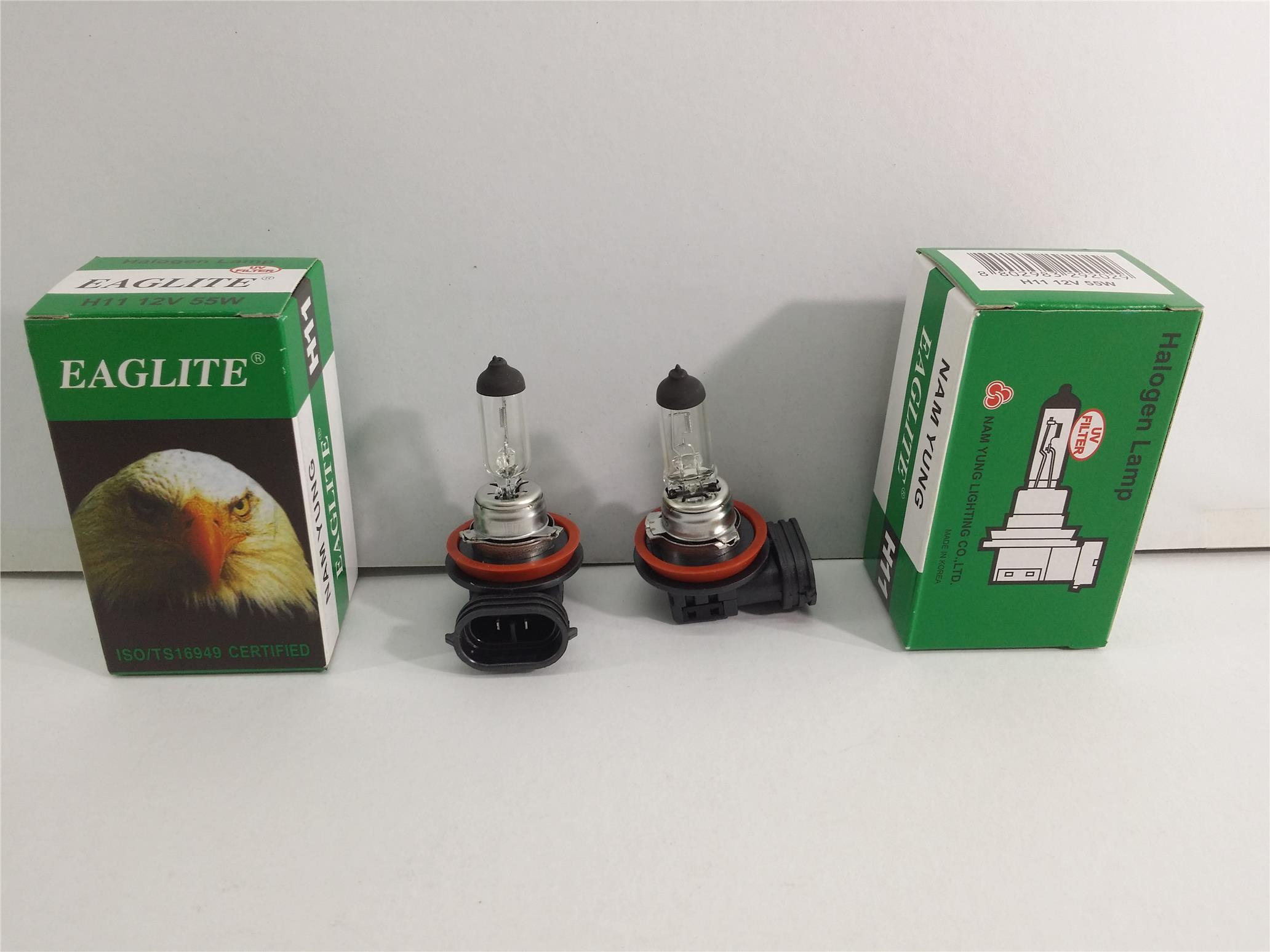EAGLEYE H11 BULB SET 2 PIECES 12V 55W MADE IN KOREA NAM YUNG