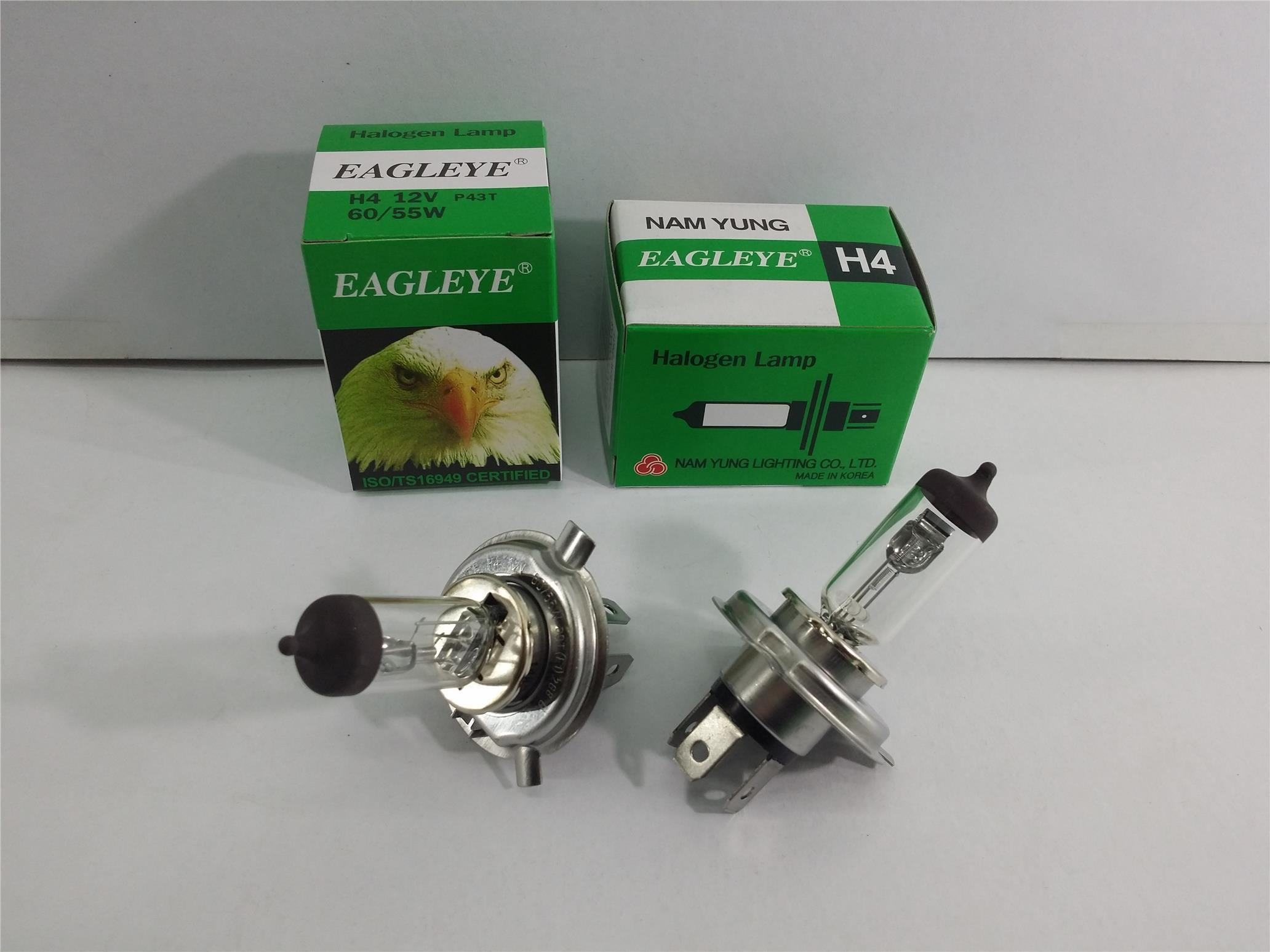 EAGLEYE H4 BULB SET 2 PIECES 12V 60/55W MADE IN KOREA NAM YUNG