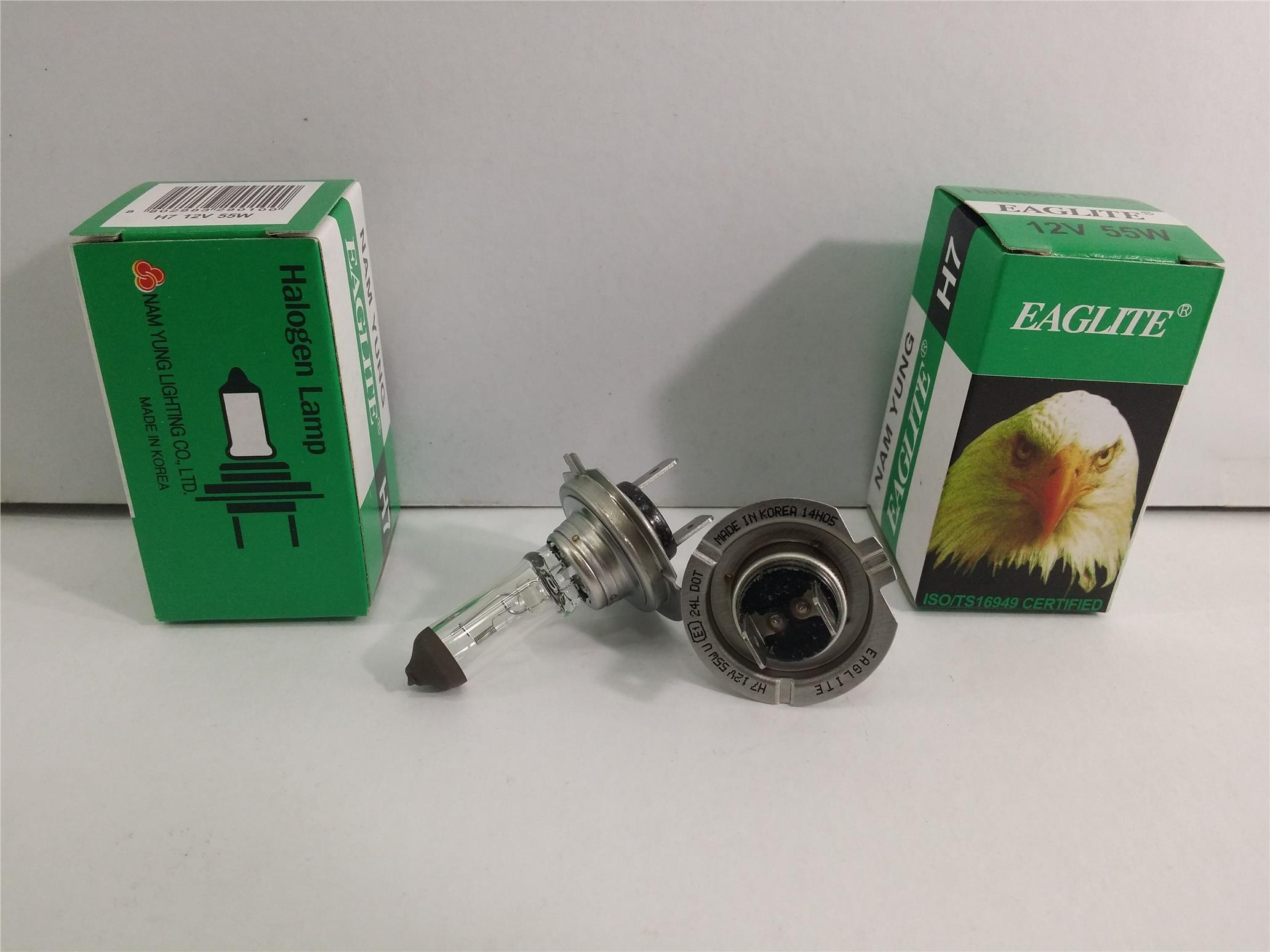 EAGLEYE H7 BULB SET 2 PIECES 12V 55W MADE IN KOREA NAM YUNG