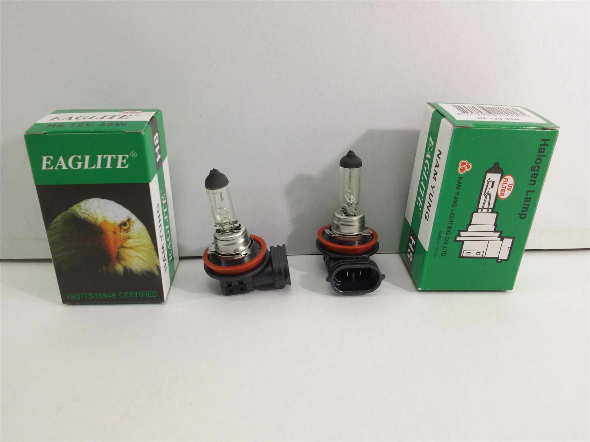 EAGLEYE H8 BULB SET 2 PIECES 12V 35W MADE IN KOREA NAM YUNG