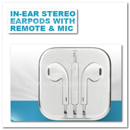 Earpods Handsfree Earphone Headsets Mic Volume Remote for iPhone 5 4 4