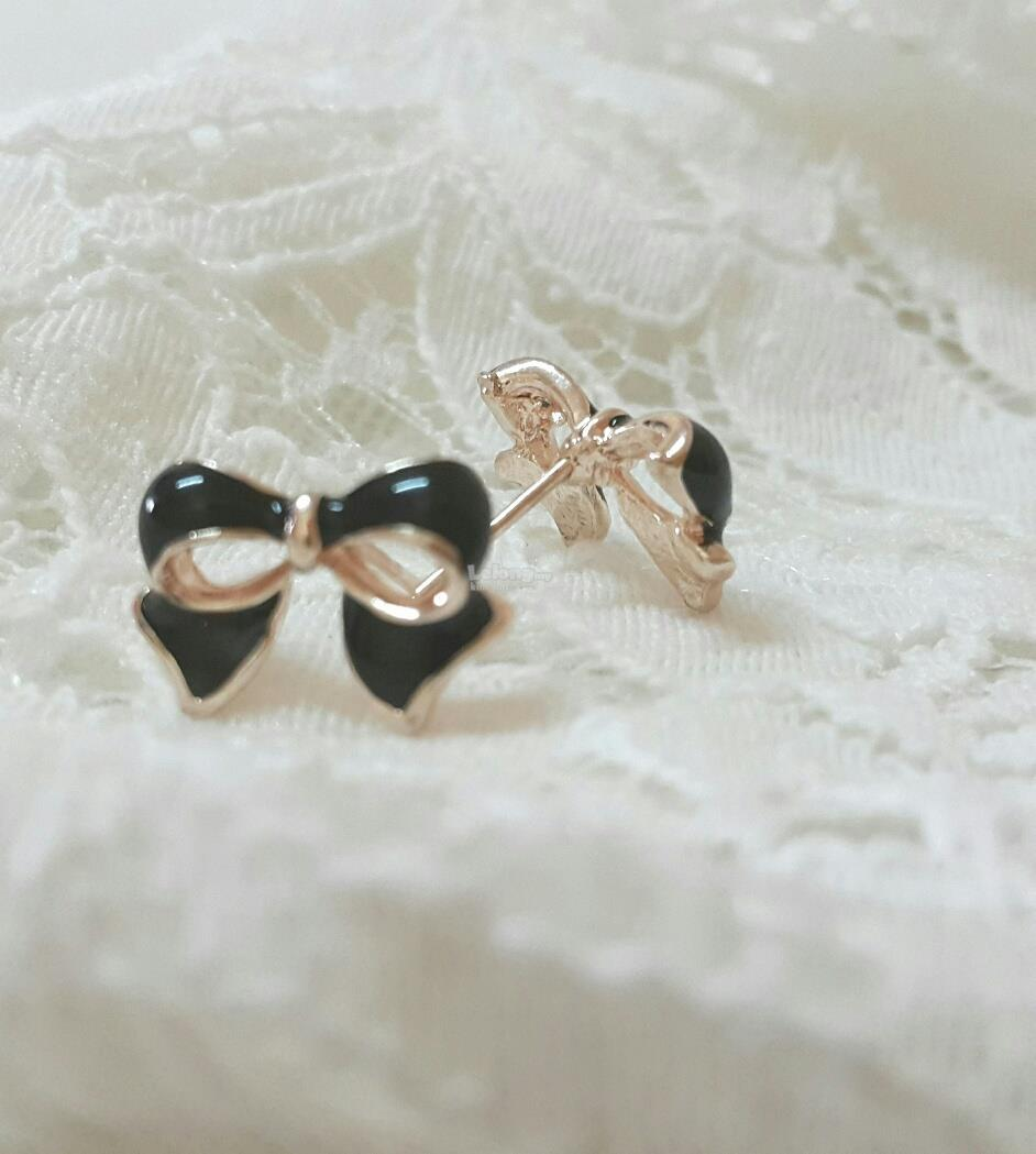 Earring_Ribbon (Black)