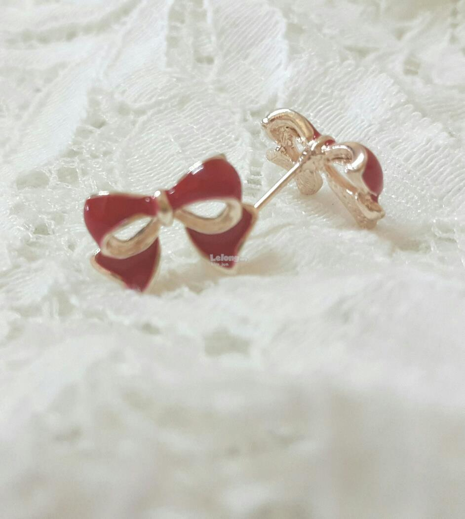 Earring_Ribbon (Red)
