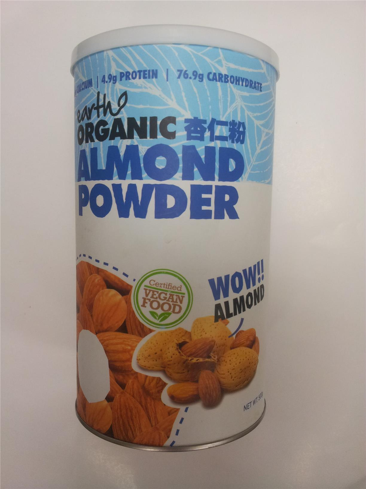 Earth Organic Almond Powder, 500g