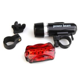 Economical 5 LED Bike Bicycle Head Light & Warning Light