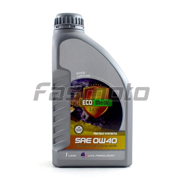 Ecothetic PAO Fully Synthethic SAE 0W40 Engine Oil API SN 1 Litre