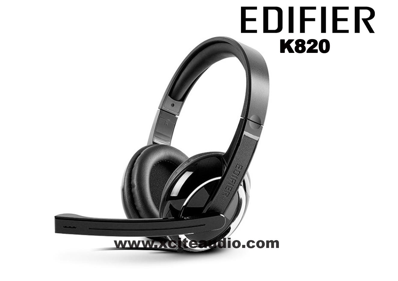 Edifier K820 Noise Canceling Microphone Headphone BLACK