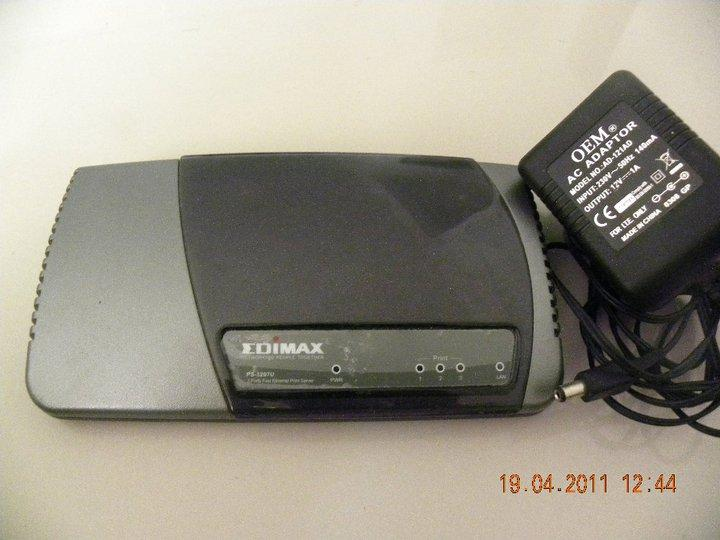 Edimax PS-3207U - 2 USB 2.0 + 1 Parallel Ports Print Server