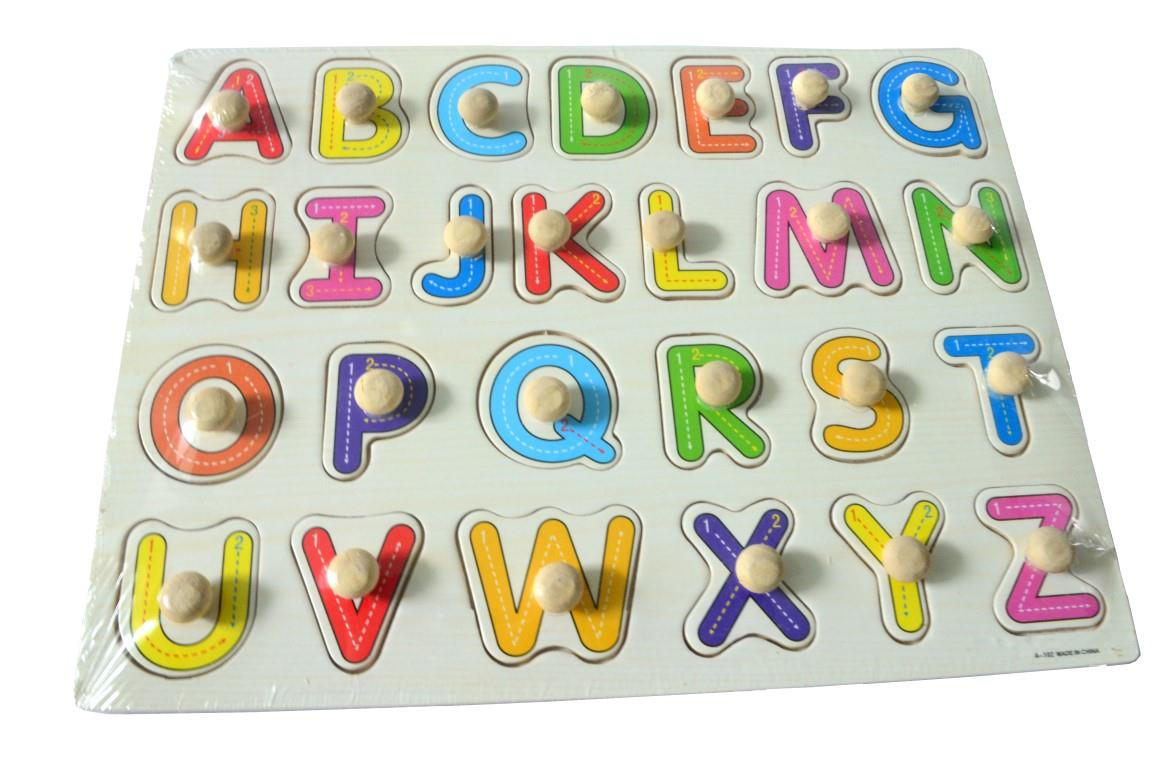 Educational Learning Wood Puzzle- Capital Letter (A-Z)