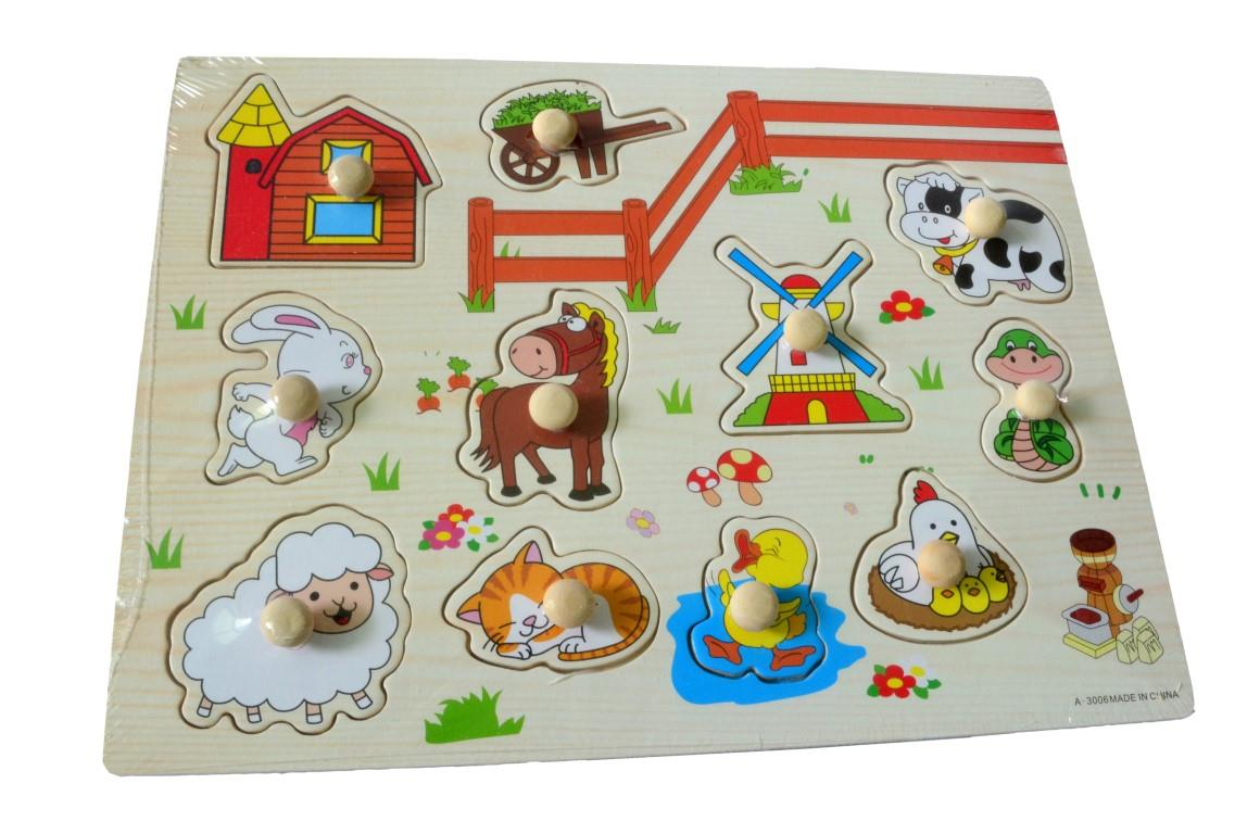 Educational Learning Wood Puzzle- Farm