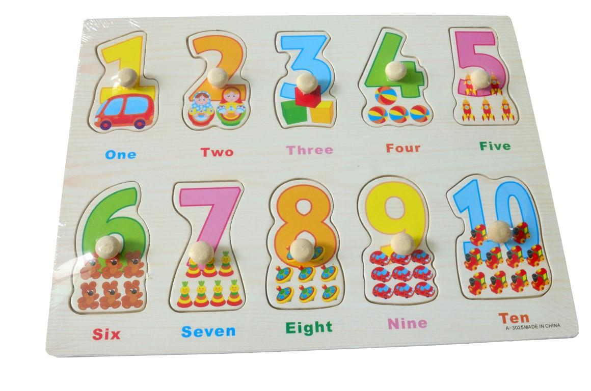 Educational Learning Wood Puzzle- Number With Words