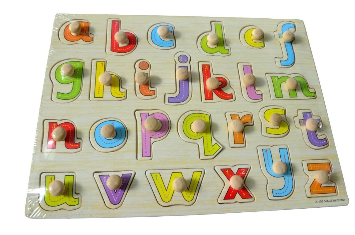 Educational Learning Wood Puzzle- Small Letter (A-Z)