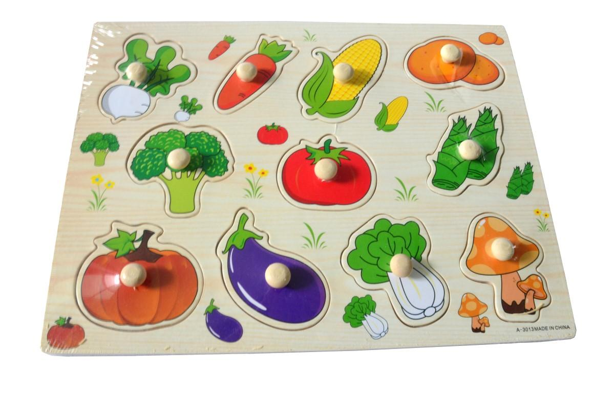 Educational Learning Wood Puzzle- Vegetable