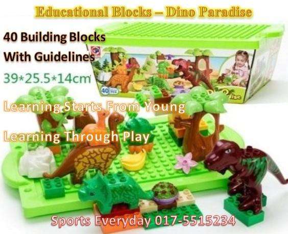 Educational Lego Kids Toy Blocks- Dino Paradise (Pendidikan,Mainan)